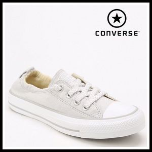CONVERSE SLIP ON CHUCKS  GRAY WHITE LOW TOPS A2C